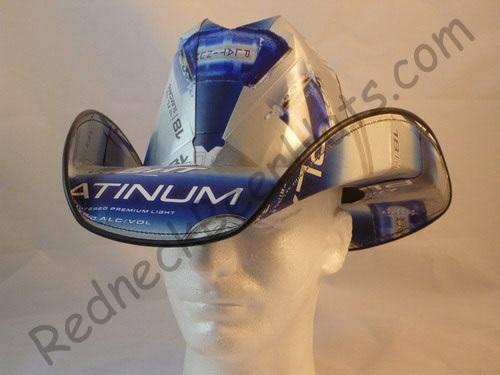 Bud-Platinum-Beer-Cowboy-Hat