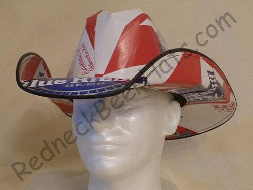 Pabst Blue Ribbon Style Beer Box Cowboy Hat 76fb0748847