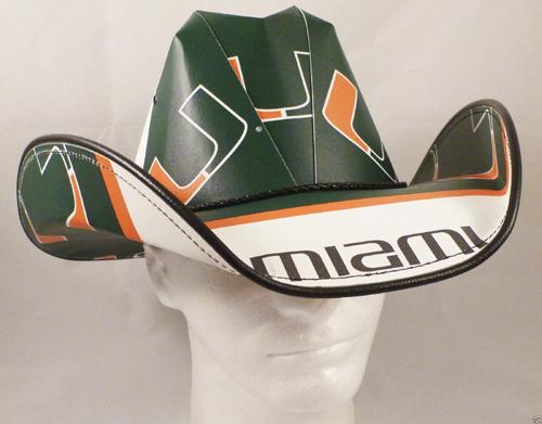 premium selection 9c40a 778b6 Miami Hurricanes Cowboy Hat
