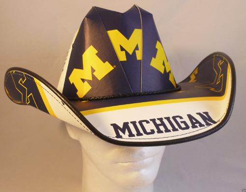 huge discount fcd9b bf419 Michigan Wolverines Cowboy Hat